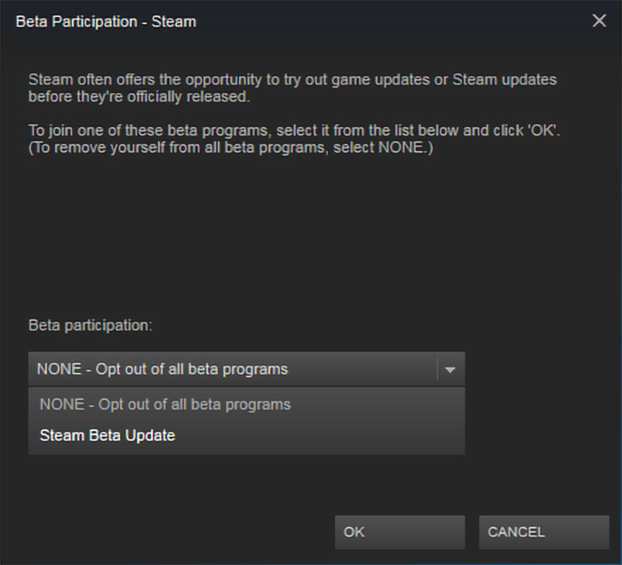 opt-out of all beta programs