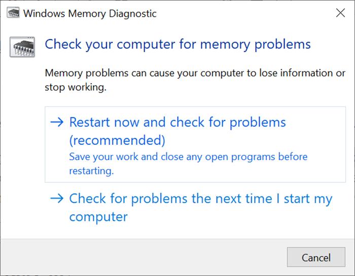 Run Memory Test