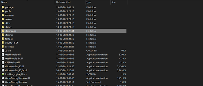 steamapps folder