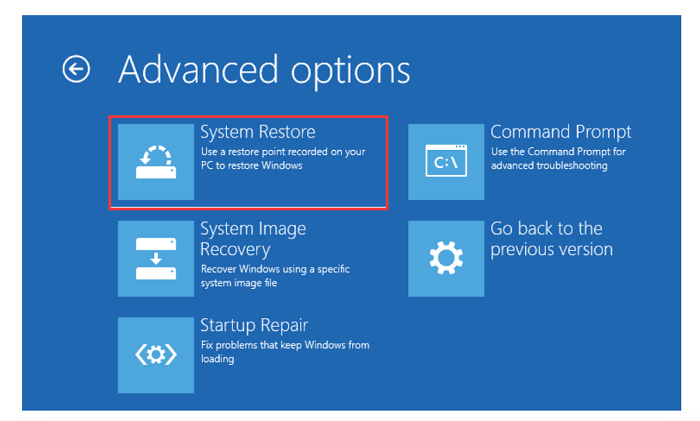 system restore we couldn't complete the updates undoing changes
