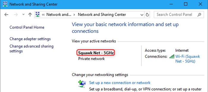 change your network
