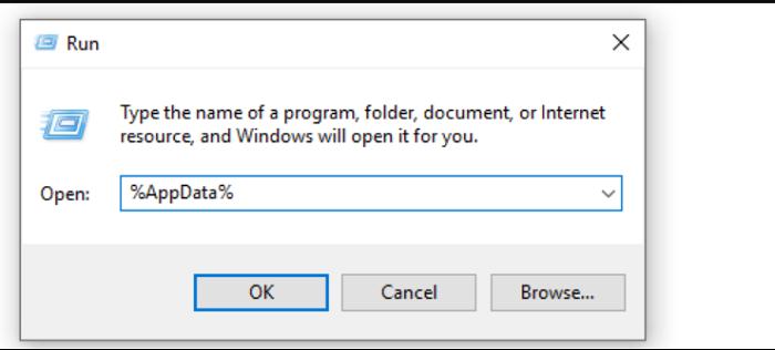 run appdata