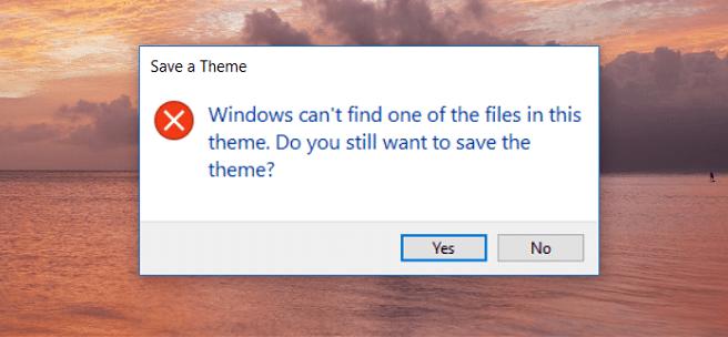 theme error