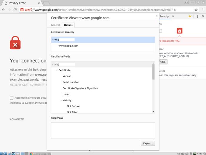 connection error certificate