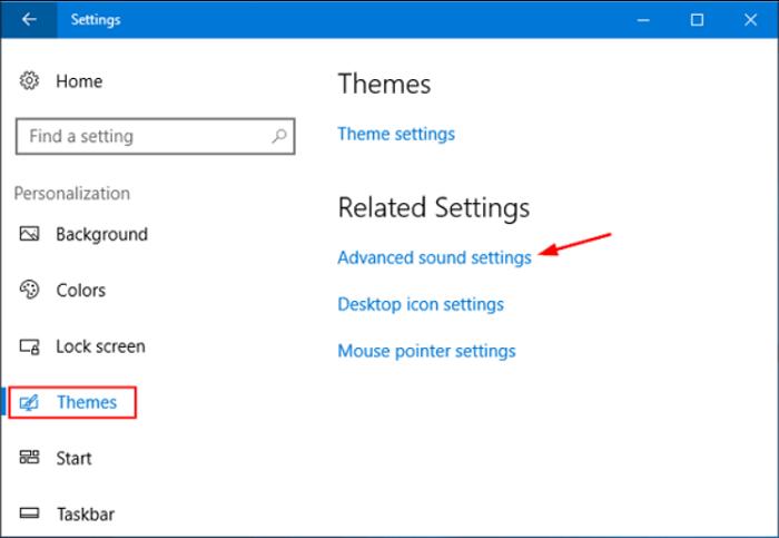advanced sound settings
