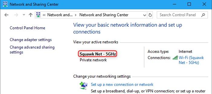 check network configuration