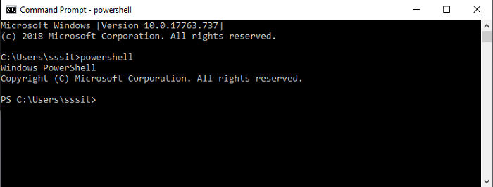 powershell create this with admin rights