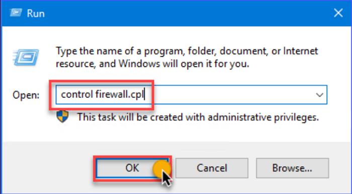 run controlfirewall.cpl