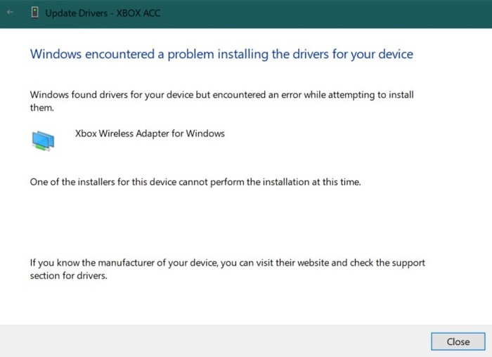 xbox wireless adaptor not working